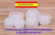AUDIFONOS AURICULARES RECAMBIOS 3 PARES 3 TAMAÑOS CASCOS IPHONE ANDROID MOVIL