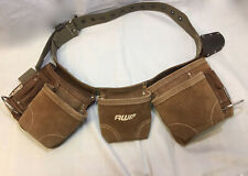 NEW AWP Suede Leather Construction Carpenter Apron Tool Pouch Belt
