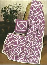 *Purple Passion Afghan & Pillow crochet PATTERN INSTRUCTIONS