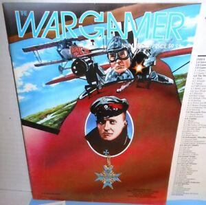 BOARD WAR GAME Wargamer Mag #48 w/ Red Baron WW1 Aerial Combat op 1985 UNP