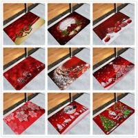 Christmas Welcome Coral Velvet Doormat Indoor Home Carpets Decor Mat Pad 40x60CM