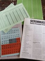 Simulations Publications S&T #37 Scrimmage Tactical Pro Football Unpunched SPI
