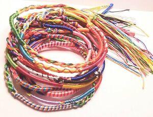 5 /10 Friendship Bracelets Anklet Cotton Thread Woven Bracelet Party Bag UK Post