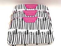 Lot of 3: Estee Lauder Cosmetic Makeup Bag Case Zipper Mascara Print