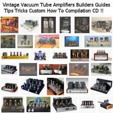 Vacuum Tube Amplifier Amp Builders Guides Tips Tricks Custom PDF CD + Bonuses!!