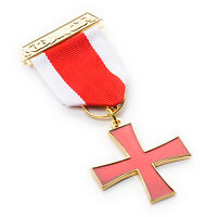 Superb Quality Masonic Knights Templar KT Breast Jewel with a Jewel Wallet