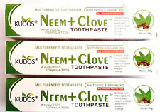 Pack of 3 Kudos Neem + Clove Tooth Paste 100g with Free Shipping