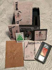 Metallica Live Shit: Binge & Purge VHS/CD Box Set - Book - Stencil - Pit Pass