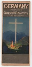 1934 OBERAMMERGAU PASSION PLAY Germany BROCHURE German TERCENTENARY Catholic