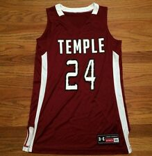 New Under Armour Women's S Temple Owls Next Level Game Jersey #24 Maroon White