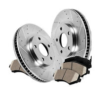 2Rear L+R Drilled Slotted Brake Rotors & 4Ceramic Pads Fit Chrysler 300 05-15