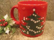 Vintage Waechtersbach W Germany Red Coffee Mug Cup with a Christmas Tree