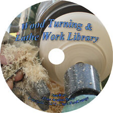 23 RARE Books on CD Wood Turning & Lathe Work How to Woodworking Tools Beginners