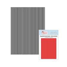 Stripe embossing folder Carta Bella Perfect Stripes folders Cuttlebug Compatible