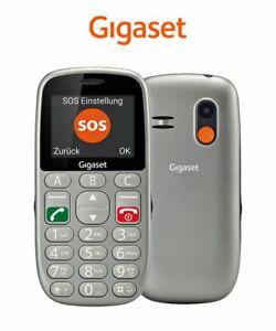 Gigaset GL390 - Seniorenhandy ohne Vertrag mit extra großen Tasten, titan-silber