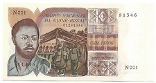 Guinea Bissau Africa Banknote 100 Pesos 1975 P2 Currency Collection First Issue