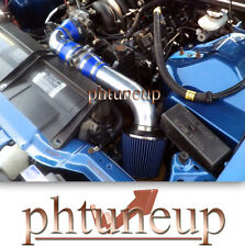 "BLUE For 96-00 GMC C//K 1500//2500//3500 5.0//5.7 V8 3/"" Short Ram Air Intake Kit"
