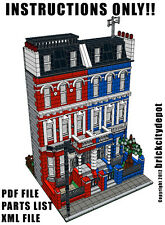 Lego Custom Modular Building - London Row Houses - City #3 - INSTRUCTIONS ONLY!