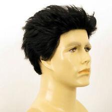Perruque homme 100% cheveux naturel noir ref ALBERT 1b