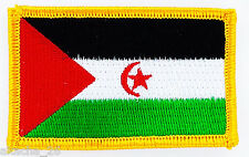 PATCH ECUSSON BRODE DRAPEAU SAHARA OCCIDENTAL INSIGNE THERMOCOLLANT NEUF FLAG