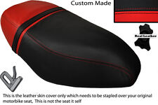 BLACK & RED CUSTOM FITS PIAGGIO ZIP 50 125 00-13 DUAL LEATHER SEAT COVER