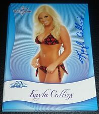 Kayla Collins Signed 2010 BenchWarmer Signature Series Card #27 Playboy Auto'd