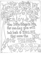 RUG HOOK CRAFT PAPER PATTERN Big Things QUOTE FOLK ART Abstract Karla Gerard