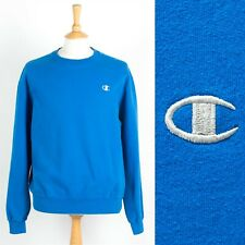 MENS VINTAGE CHAMPION SWEATSHIRT BLUE CREW NECK SWEATER 90'S RETRO LARGE L