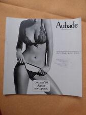catalogue Aubade automne hiver 2005  lecon N° 68 et N° 1 hommes