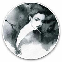 2 x Vinyl Stickers 7.5cm - Watercolour Art Beautiful Lady Cool Gift #21210
