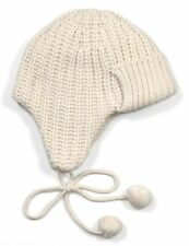 *NEW* J.Crew Women's Ribbed Wool-Blend Trapper Hat - One Size - Snow / Off-White
