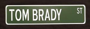 "Tom Brady 24"" x 6"" Aluminum Street Sign Tampa Bay Buccaneers NFL Football"
