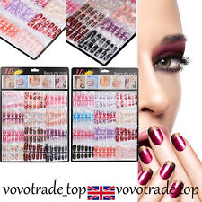 144pcs Nail French Tips Artificial Fake Nails Art Acrylic Manicure Gel Colorful