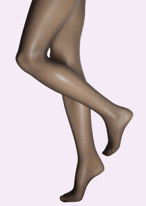 3 Pairs of 8 Denier Gloss Tights Charcoal S/M - M/L