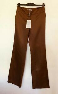 Womens Maxmara  Caramel Brown Trousers New! RRP £130  UK 10 L 33