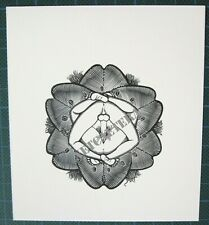 EX LIBRIS Bookplate Mark SEVERIN 87 glans glands autour couple erotic