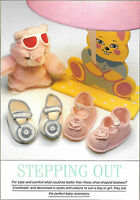 VINTAGE BABY SHOE BOOTEE CROCHET PATTERN 4PLY 14cm LENGTH