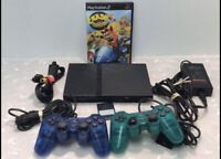 Sony Playstation 2 Slim SCPH-79001 bundle 2 controllers Crash Nitro Kart *Tested