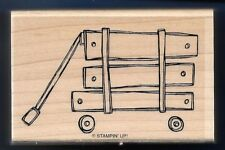 TOY WAGON Wheels Wood Rails STAMPIN' UP! Load it Up Mounted Craft RUBBER STAMP