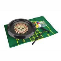 """40cm 16"""" Roulette Wheel Set Including Felt, Chips, Cards & Rake UK"""