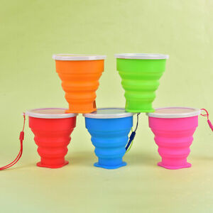 250ML Silicone Cup Retractable Folding Cup Telescopic Collapsible Outdoor CS.AU