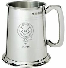 Durie Clan Crest Tankard 1 Pint Pewter