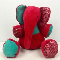 Jelly Kitten Large Ruby Elly Elephant Soother Retired Red Activity Cat Plush