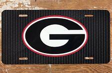 UGA Carbon Pattern Georgia Bulldogs License Plate Car Tag