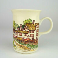 "Vintage Wade of England Ceramic Country Village Scene Cup Mug 4"" mug"