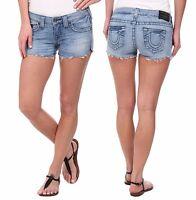 True Religion Brand Jean Joey Drifter Denim Cut Off Shorts 25 26 27 28 29 30 31