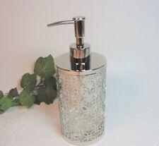 GLASS INSIDE SOAP DISPENSER NEW BELLA LUX SILVER METAL FRAME EXTERIOR