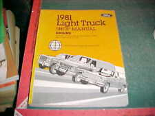 1981 Ford Bronco E & F100 150 250 350 Engine Light Truck Shop Manual xlnt cond