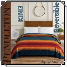 "Pendleton Blanket_Sherpa Fleece_King: 112"" X 92""_Grand Canyon Multi Color"