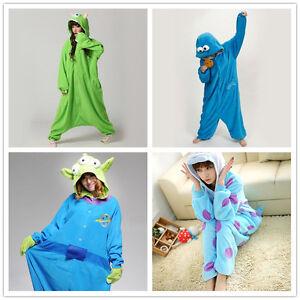 Disney Monster cartoon characters Unisex Onesiee Fancy Dress Costume Hoodies